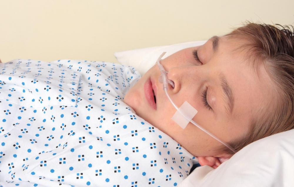 A child that's suspected to have sepsis will be placed on oxygen.