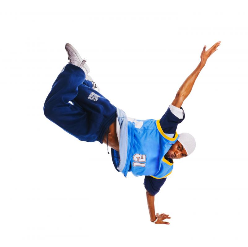 Hip-hop aerobics combines dance moves with strengthening exercises.