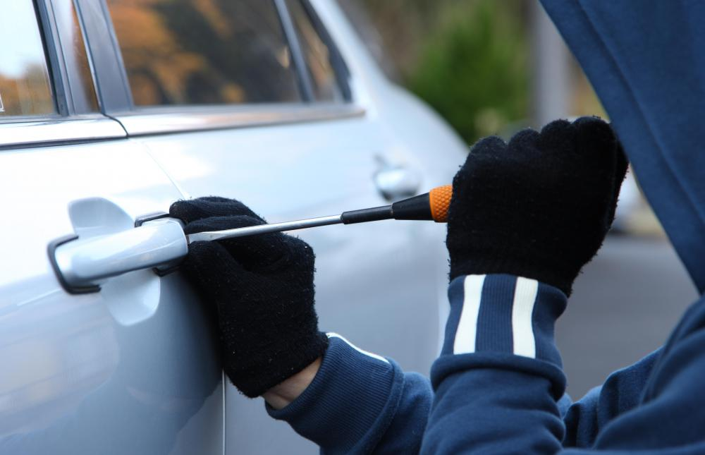 A car alarm may deter a car thief.