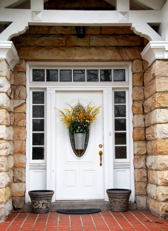 The entry door of a house is used as the main entrance to the home.