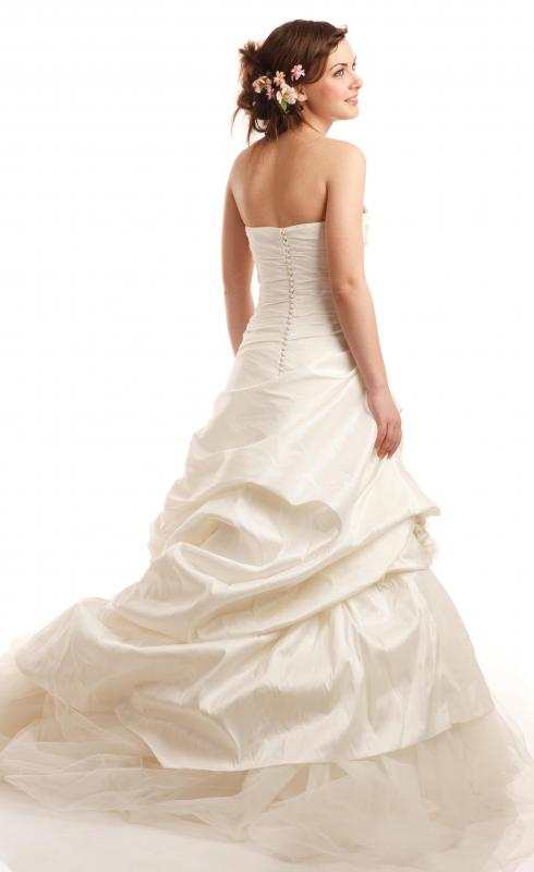 Bridal shows feature wedding gowns.