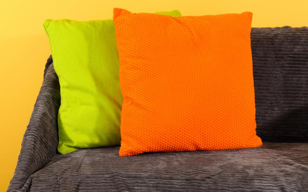 Throw Pillows On A Couch.