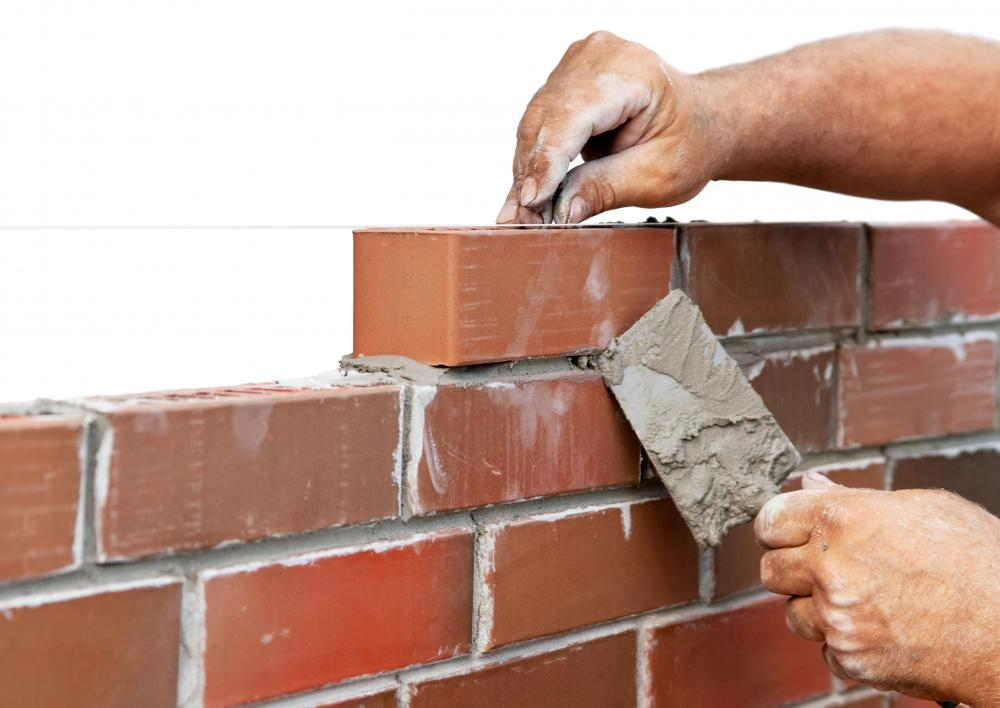 Masonry cement is used to bind bricks in construction projects.