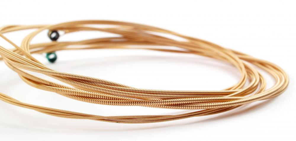 Bronze acoustic guitar strings are known for their bright, clear tone.