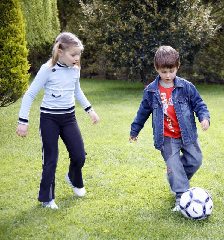 Siblings may express their rivalries through sports.