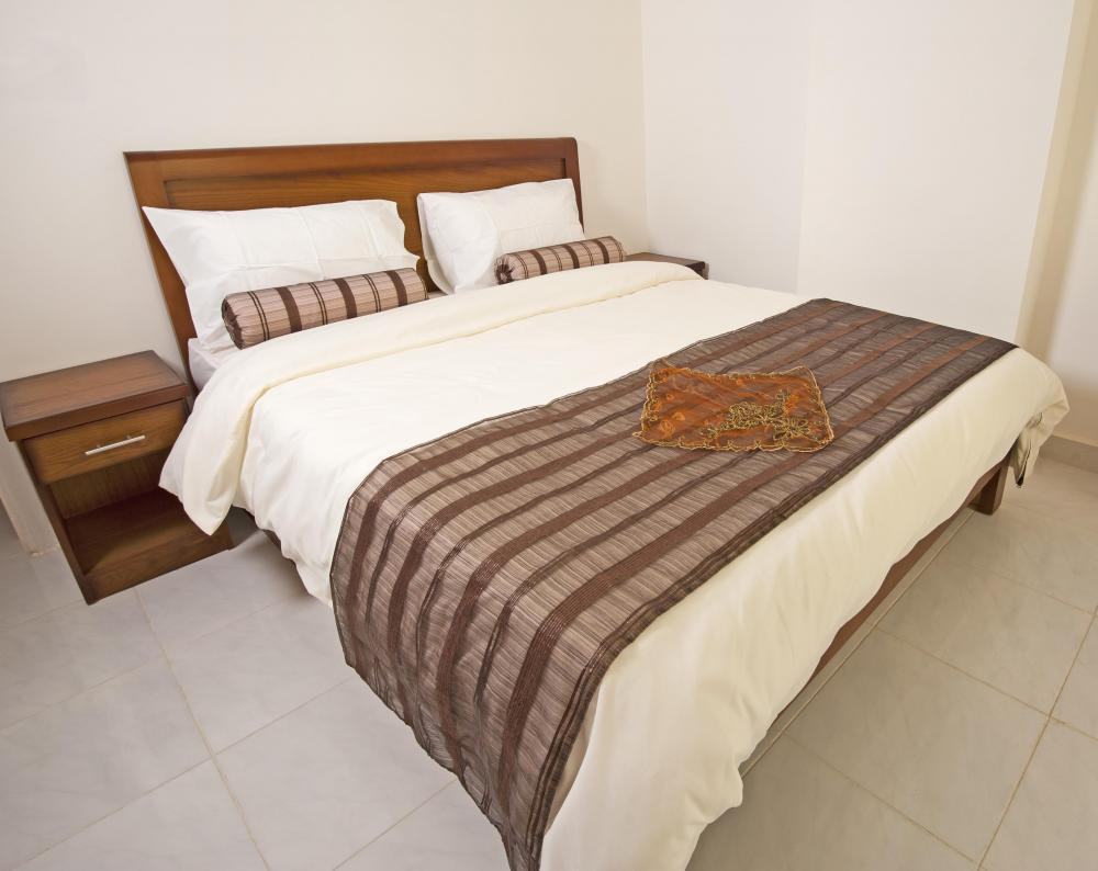 A coverlet is a lightweight cover for the bed.