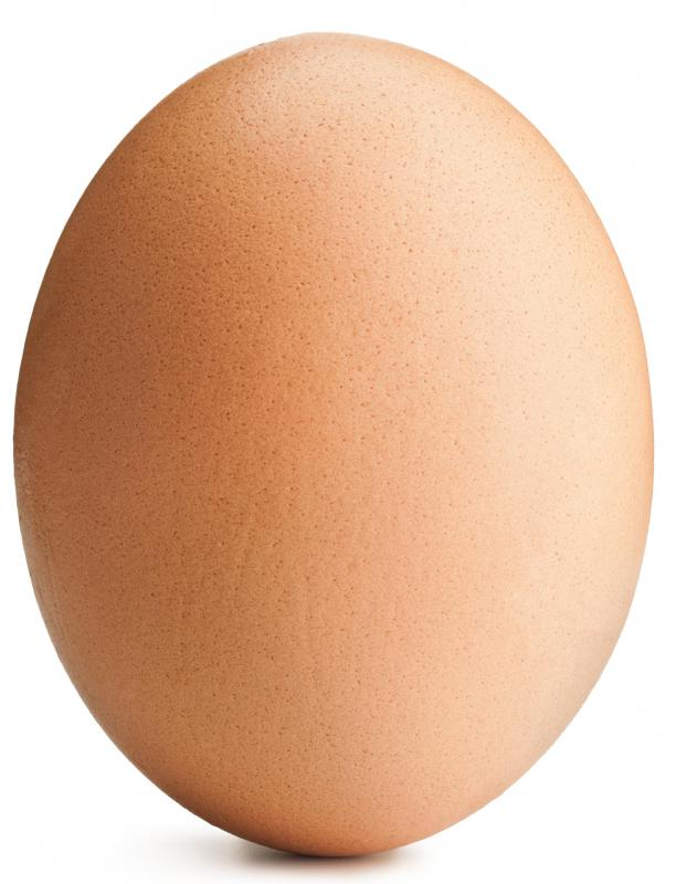 An egg, which is used in making seven-minute frosting.