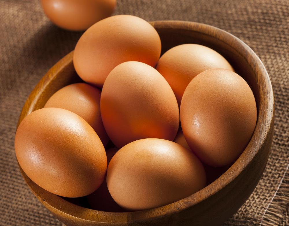 A large conventional egg can contain about 225 mg of cholesterol, or most of the average person's daily allowance.