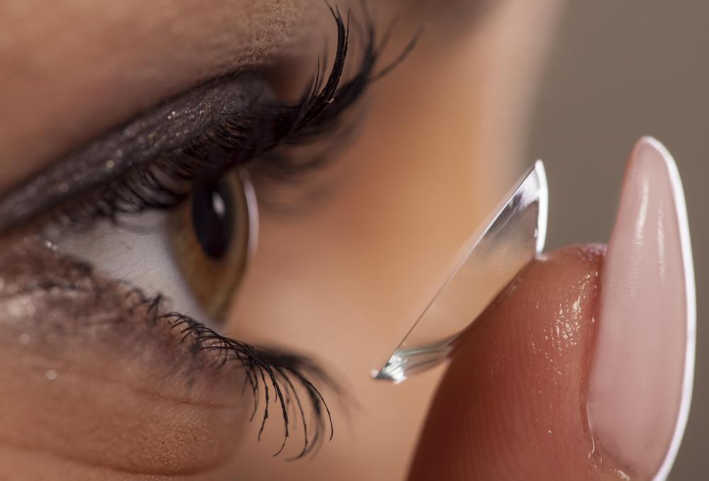 Contact lenses can be made to correct vision problems such as hypermetropia, or far-sightedness.