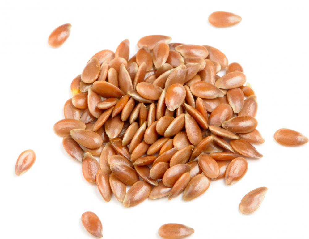 Eating flax seeds, which are high in fiber, may help to lower blood pressure.