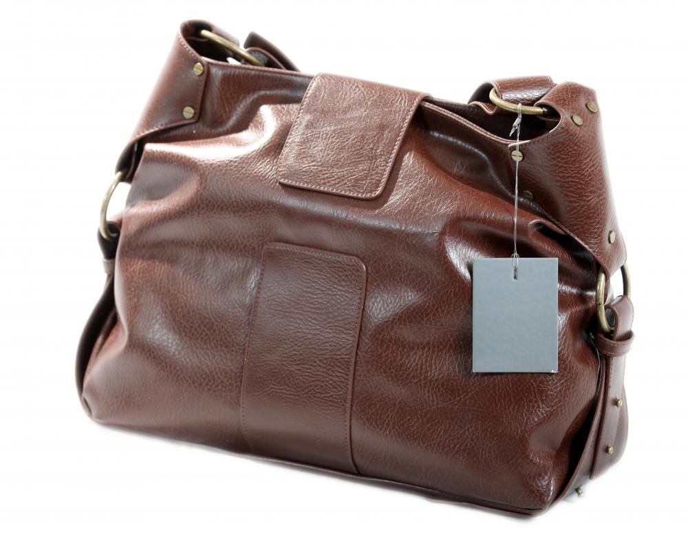 A bag made out of pleather.