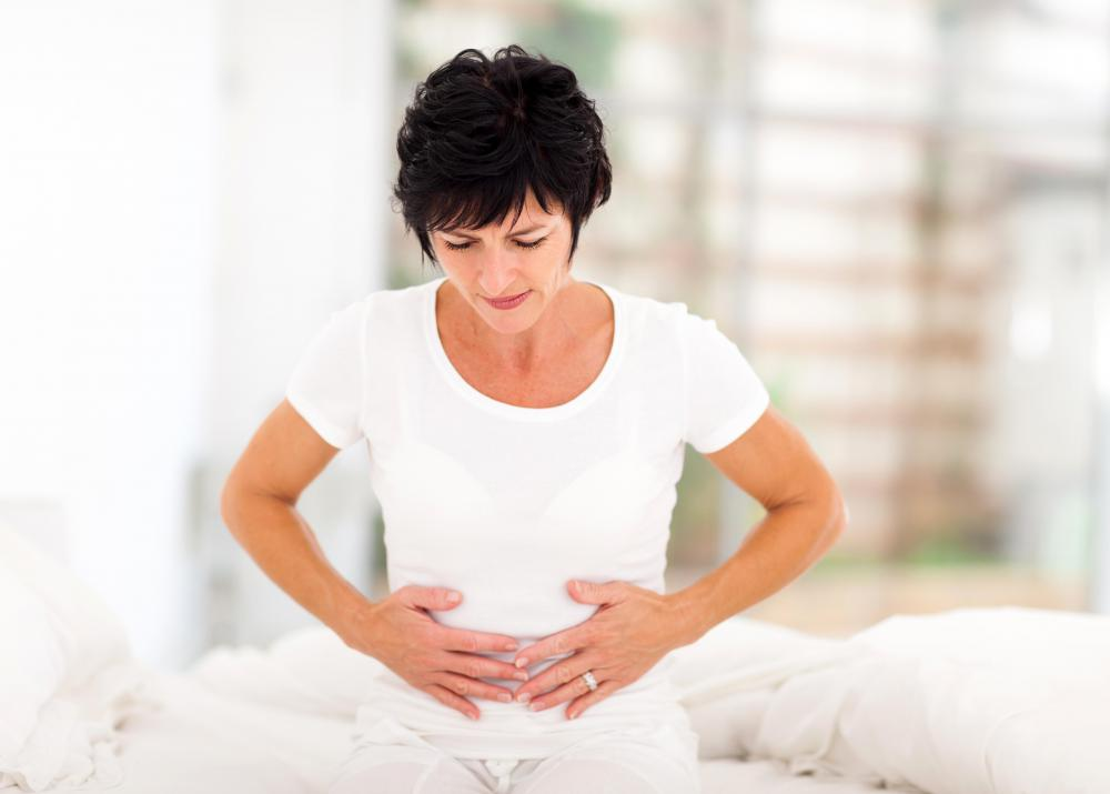 Bloating is one possible side effect of norethisterone.