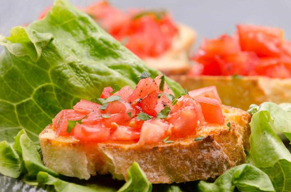 Beefsteak tomatoes are suitable for eating raw, such as in bruschetta.