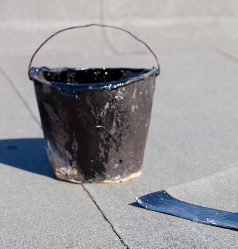 Tar can be used when repairing cracked asphalt.
