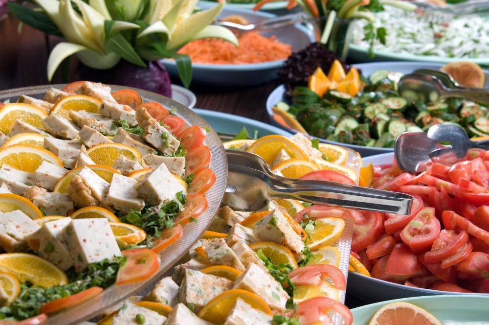 Appetizers can be set out on display for guests.
