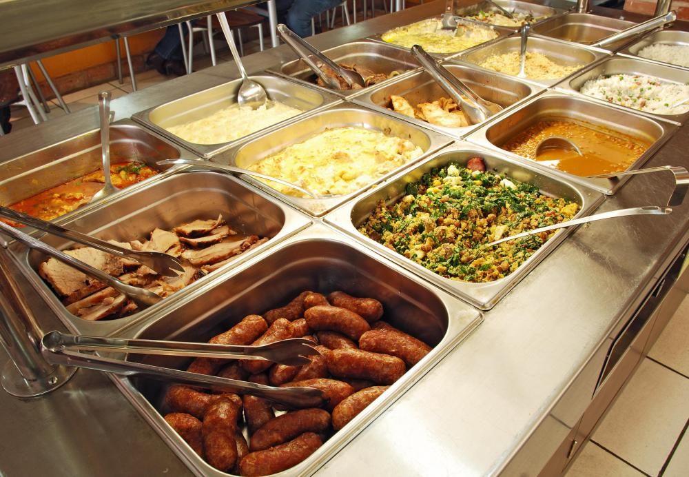 Food sanitation is a concern for restaurants with buffets where customers have direct access to food.