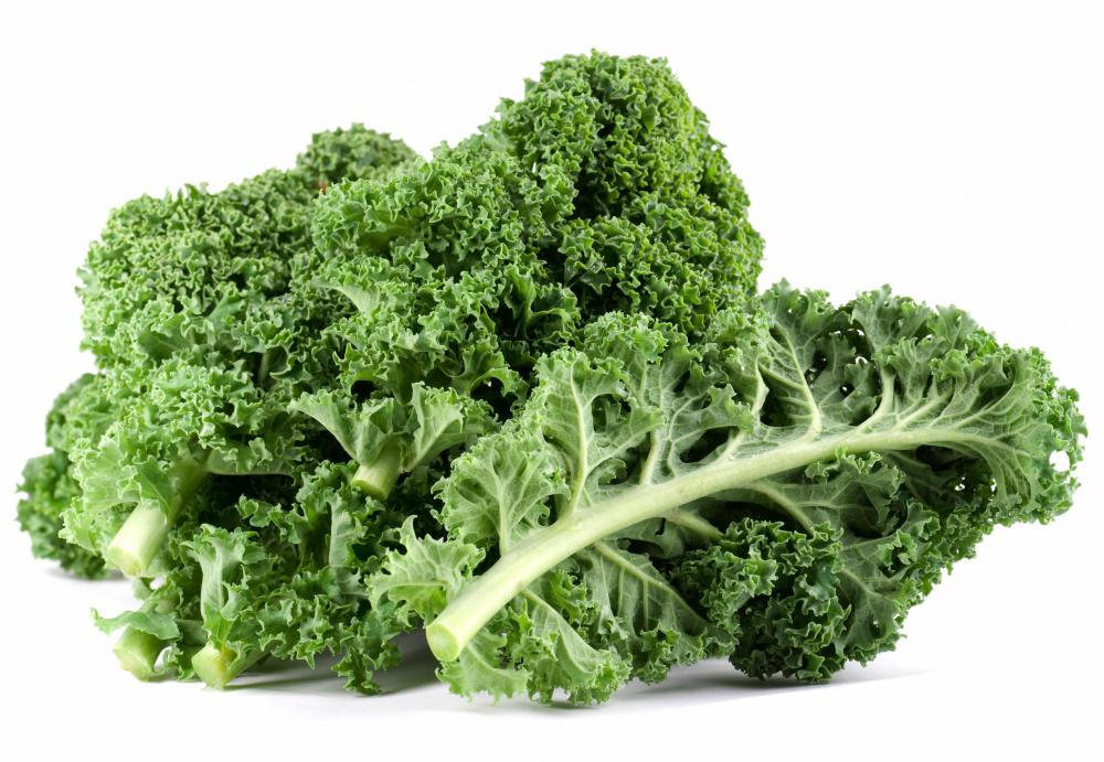 Kale is high in soluble fiber.