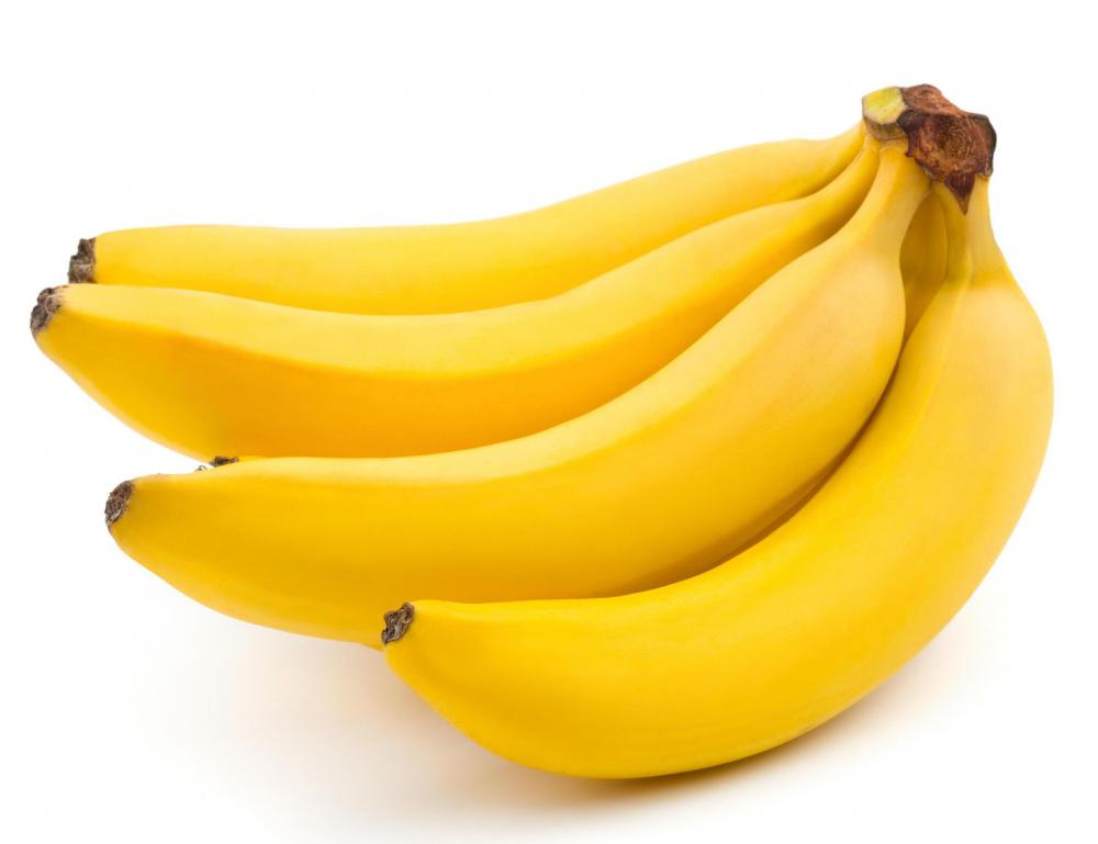 Bananas, which can be included in a fruit basket.