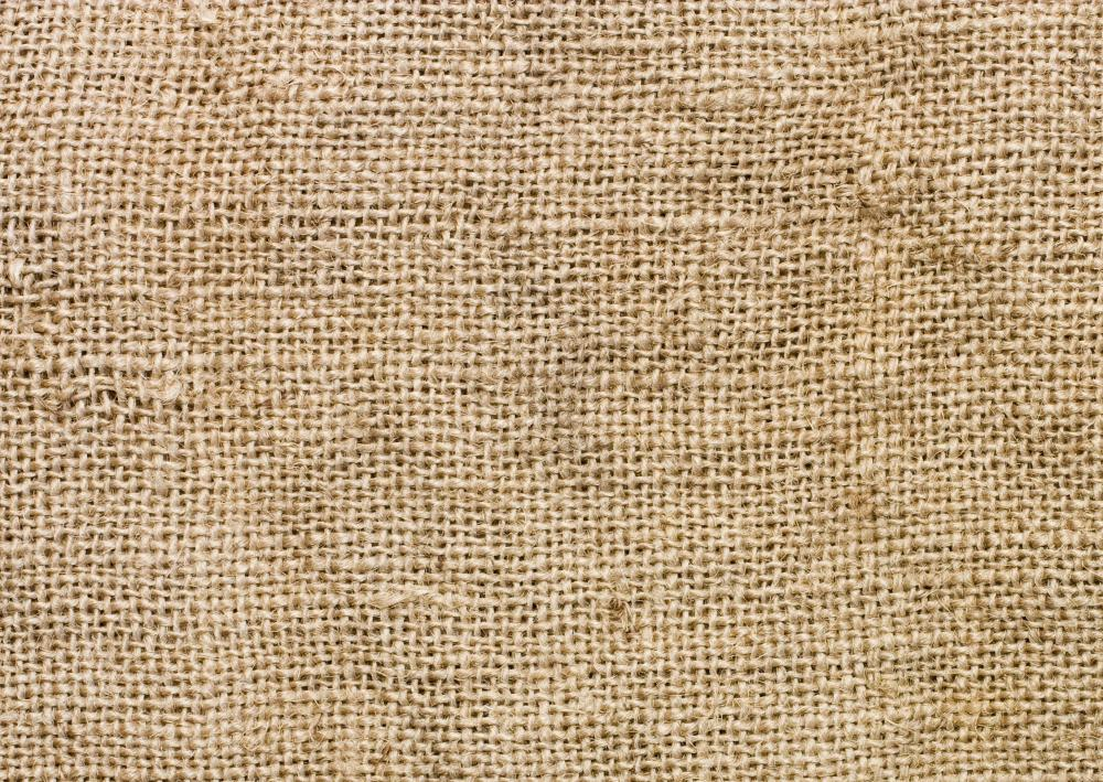 Close-up view of burlap.