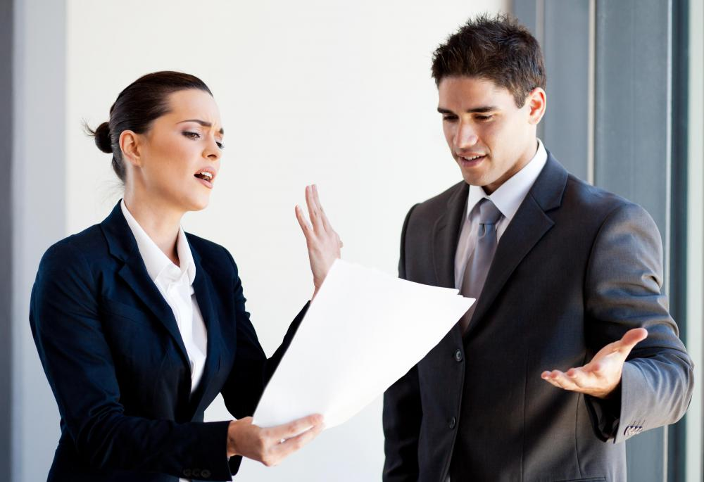 Boss-employee confrontation is a common conflict resolution scenario.