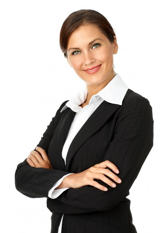 Business appropriate attire, such as a skirt or pant suit, is an important wardrobe essential.
