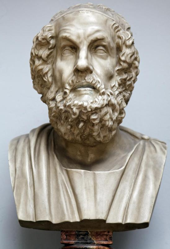 The Odyssey is credited to Homer, an ancient Greek poet, who is also assigned authorship to the Iliad and the entire Epic Cycle that includes poems about the Trojan War and Theban poems about Oedipus.