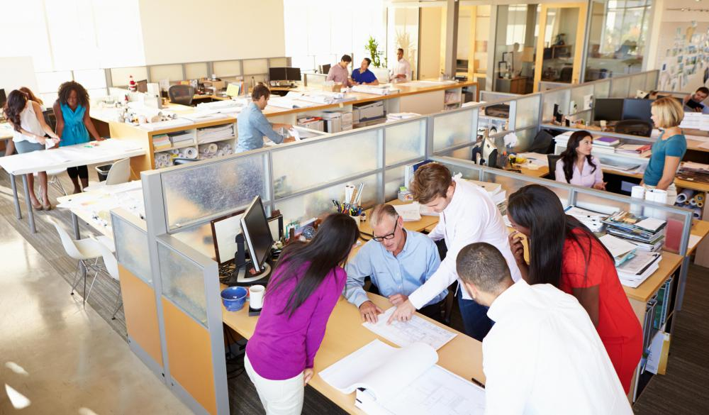 Some employers configure cubicles in ways that encourage productive collaboration among employees.