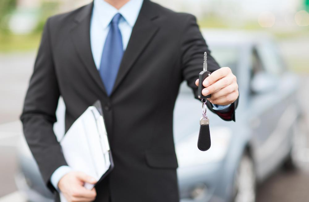 A car salesman commonly urges car buyers to purchase add-on sale products, such as a warranty.