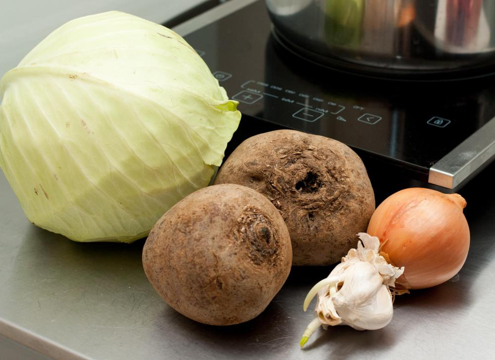 Cabbage is frequently used to make soup.