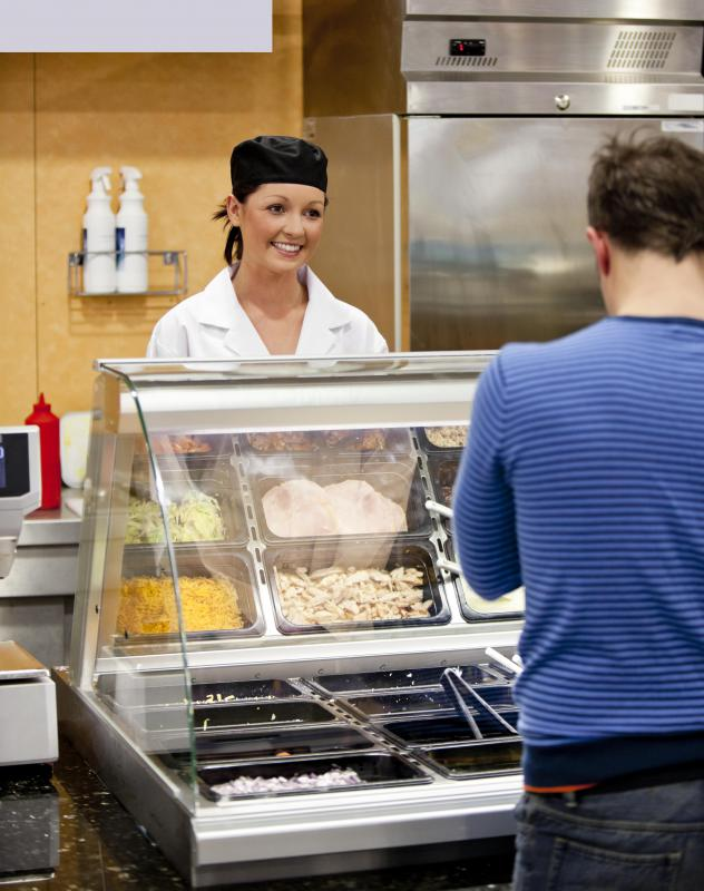 Work-Study is often done on campus, which could include working in the dining hall.