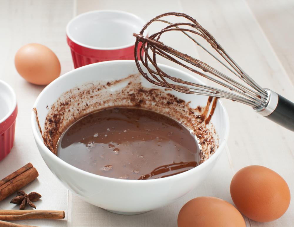 Elegant chocolate pots de crème are baked in individual ramekins, then chilled.