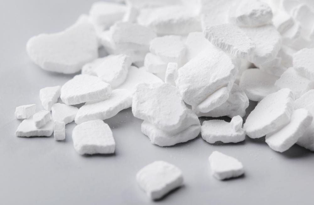 Calcium chloride is a form of salt that absorbs large amounts of liquid.