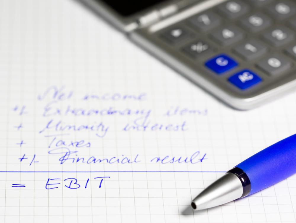 Corporate budgets often include an earnings before interest and taxes (EBIT) calculation.