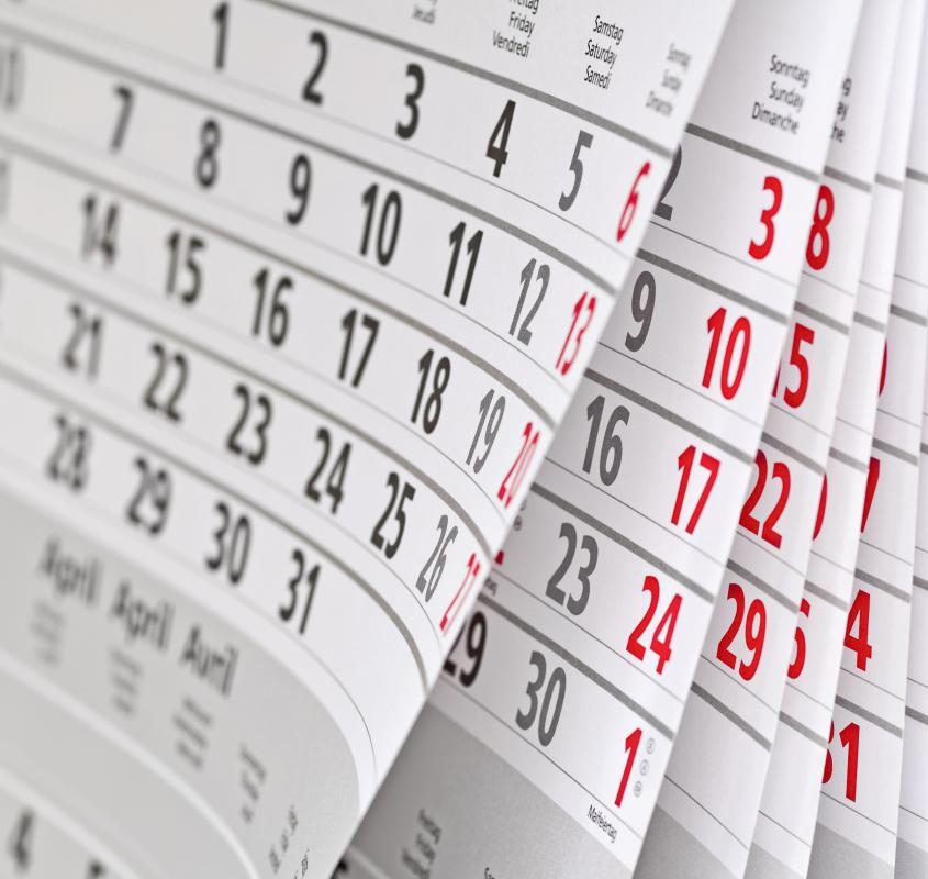 Marking reminders on calendars may help bookkeepers keep track of due dates.
