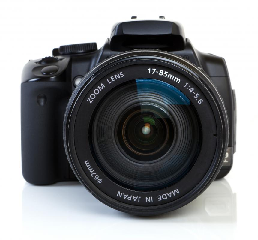 Digital cameras store pictures directly on the camera or SD cards.