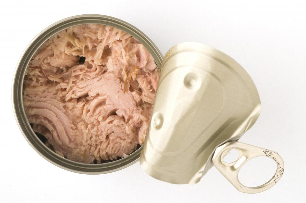 A tuna wrap can easily be made with canned tuna.