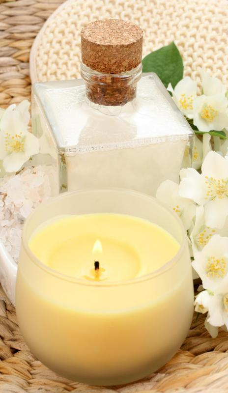 Many spas use scented lotions and candles to help clients relax.