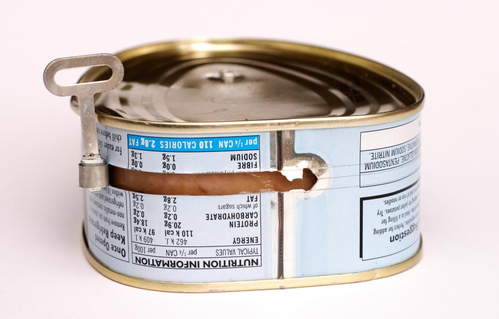 Canned ham can contain edible gelatin.