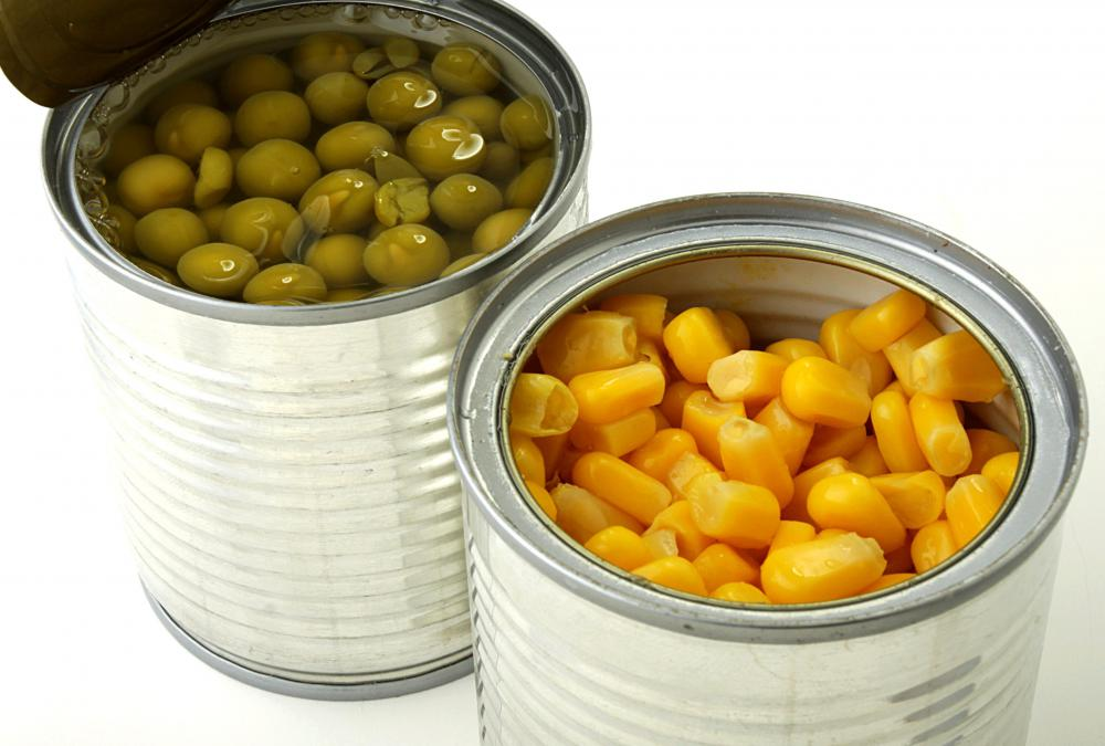Salt -- known as sodium chloride -- is commonly used to preserve canned foods, such as vegetables.