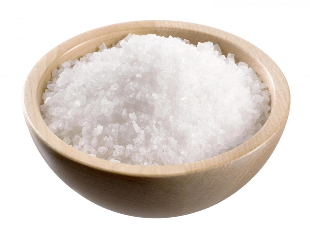 Canning salt, which can be used to make a saline nasal wash.