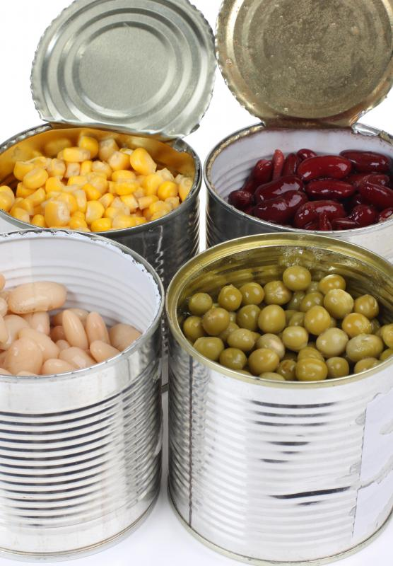 Canned goods are often distributed to those in need.