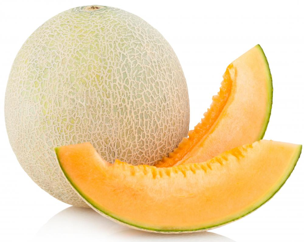 Cantaloupe, which contains lots of vitamin A.