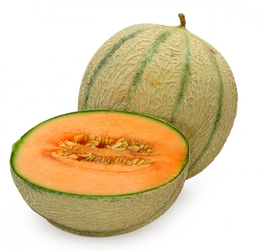 Cantaloupe, a type of muskmelon.