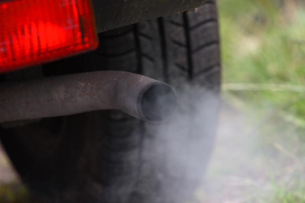 Car emissions contribute to air pollution.