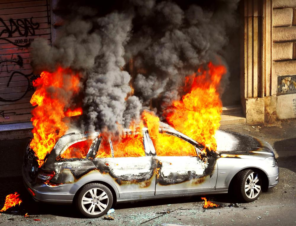 Comprehensive auto insurance policies cover vehicle fires.