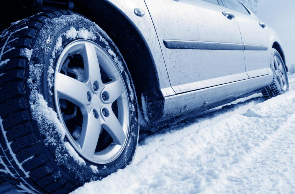 Snow tire grooves help tires grab slick roads.