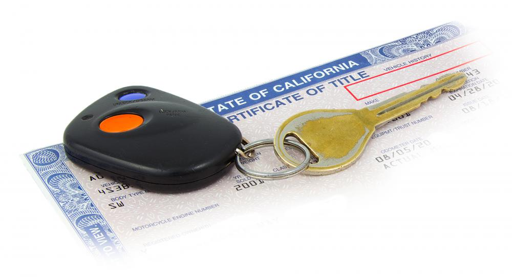An auto title establishes a car's ownership.