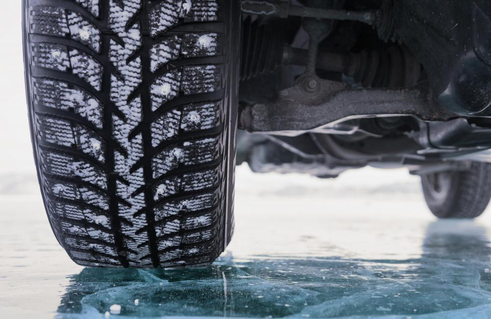 Tire treads are essential to prevent hydroplaning.