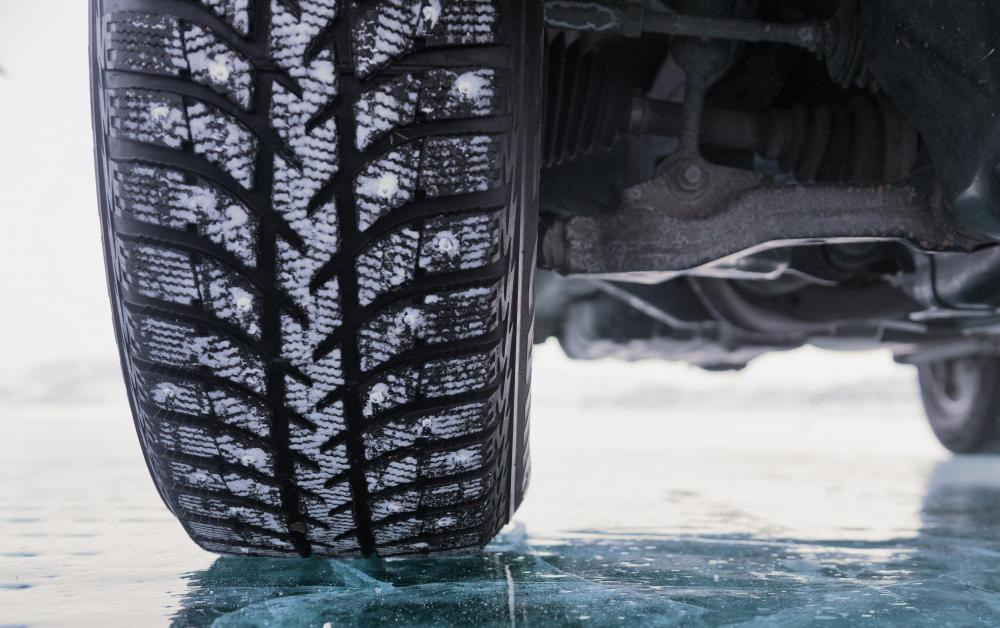 Snow tires have deeper treads for better traction on ice and snow.