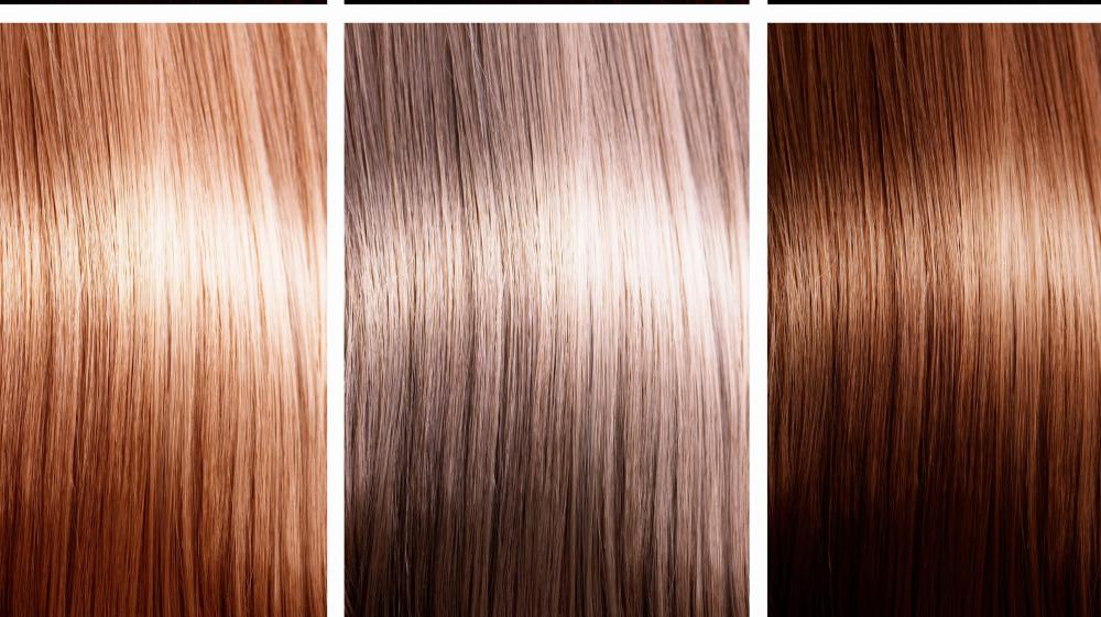 Caramel hair coloring.